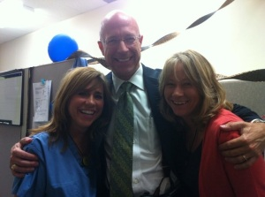 Michele, Dr. McLafferty and me
